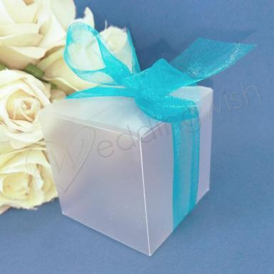 Wedding 5cm Matt Favour Gift Boxes x 10 - Wedding Wish Image 1