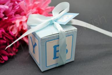Wedding Baby Blue Boxes x 10 - Wedding Wish Image 1