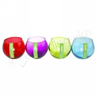 Wedding Tealight Candle Holders Coloured Glass Bowls - Wedding Wish Image 1