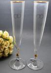 Rogaska Remen Gold Rings and Detail Champagne Flutes image