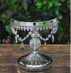Silver Antique Look Pillar Cake Stand - Hire image