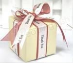 Elegant Ivory Box with Thank You Ribbon x 10 image