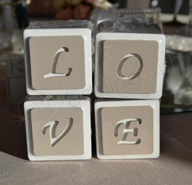 Wedding LOVE Stackable Block Letters - Wedding Wish Image 1
