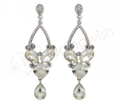 Wedding Crystal and Rhinestone Chandelier Drop Earrings - Wedding Wish Image 1