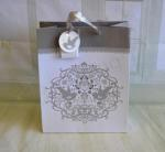 Silver Embossed Love Birds Large Gift Bag image