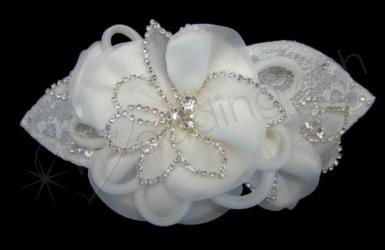 Wedding Swarovski Organza Flower Clip - Wedding Wish Image 1