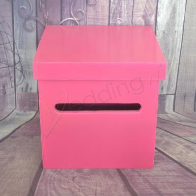 Wedding  Pink Wishing Well Timber Box Image 1