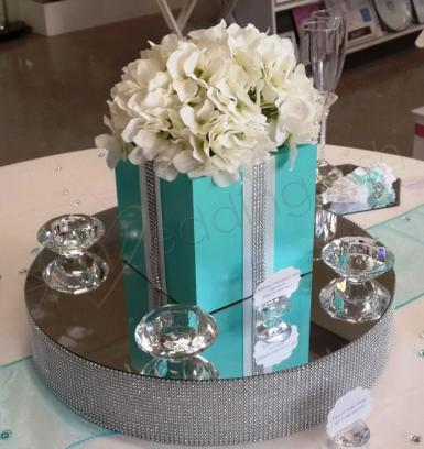Wedding 16 inch Bling Stand - HIRE - Wedding Wish Image 1