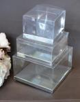 Clear PVC Box with Silver Base 7.5cm x 7.5cm x 5cm image