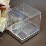 Clear PVC Box with Silver Base 7.5cm x 7.5cm x 7.5cm image