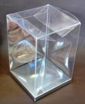 Clear PVC Box with Silver Base 10cm x 10cm x 15cm image