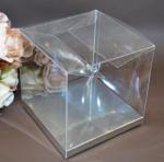Clear PVC Box with Silver Base 12cm x 12cm x 12cm image