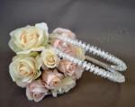 Stefana Crystal and Diamante Bride and Groom Crown x 2 image