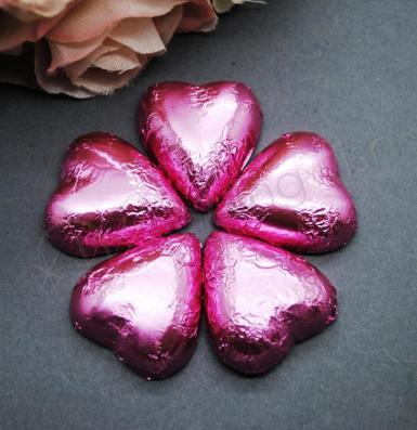 Wedding Pink Heart Shaped Chocolates x 100 - Wedding Wish Image 1