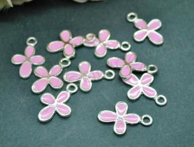 Wedding Metal Cross Charms - Blue, Pink or White - Wedding Wish Image 1