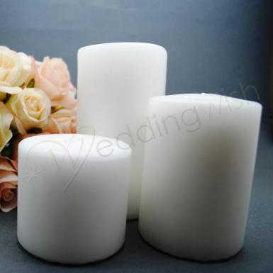 Wedding Candles Set of 3 Various Sizes - Wedding Wish Image 1