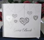 Silver Heart Guest Book - Wedding or Engagement image