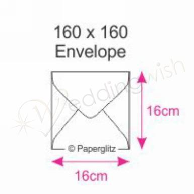 Wedding  Envelopes Size 160 SQ x 10 Image 1