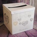 Silver Hearts Wishing Well Card Box image