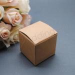 Kraft Rustic 5cm favour boxes x 10 image